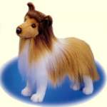 Stuffed Plush Sheltie Dog
