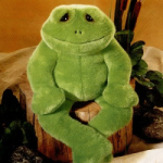 Herbert the Stuffed Frog from the Best Friends Collection