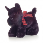 Stuffed Black Scottish Terrier by Aurora