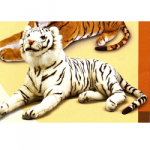 Large White Tiger Stuffed Animal